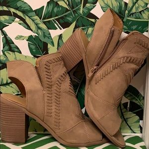 Shoes - Universal Thread peep toe booties